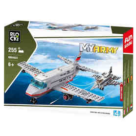 Klocki Blocki MyArmy Samolot wojskowy 255 el.
