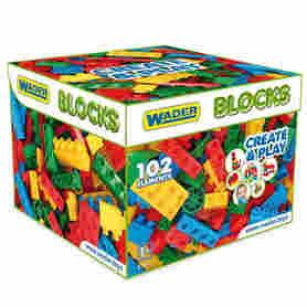 Wader 41292 Klocki Blocks Create & Play 102 el.w kartonie