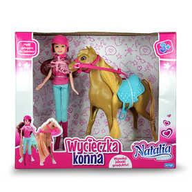 lalka Natalia barbie dżokejka z koniem