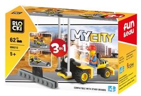 KLOCKI BLOCKI MyCity Dźwig  62el. 3w1 KB6212