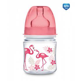 CAnpol butelka różowa z flamingami