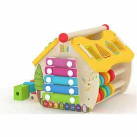 Smily Play Drewniany Domek Aktywizujący z sorterem