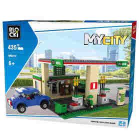 Klocki Blocki MyCity 435el Stacja Benzynowa KB0212