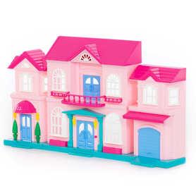 Duży domek dla lalek różowy