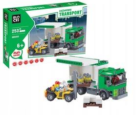 KLOCKI BLOCKI Transport Ciężarówka 253el. KB6093