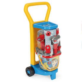 Wader narzędzia dla dziecka zapakowane na wózku