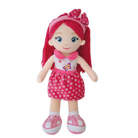 Lalka szmacianka różowa Zuia