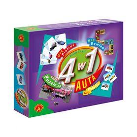 ALEXANDER 4w1-AUTA ZESTAW PUZZLE + 3 GRY