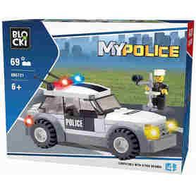 Klocki Blocki Radiowóz z Figurką Policjanta opakowanie