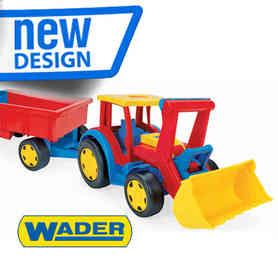 Gigant Traktor Z Przyczepą i łyżką Wader