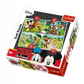 TREFL PUZZLE 4w1 MYSZKA MIKI ZABAWA W PARKU 34261