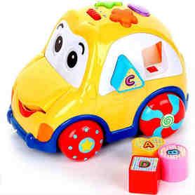 SMILY PLAY Auto mówi po PL + Klocki Edukacyjne + Sorter