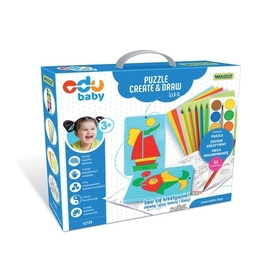 Wader 42120 Edu Puzzle Create & Draw Jezioro