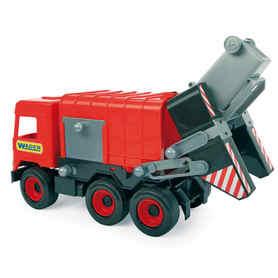 Wader 32113 Middle Truck Śmieciarka czerwona