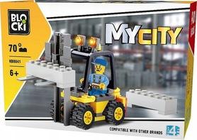 KLOCKI BLOCKI MyCity Wózek Widłowy 70el. KB8041