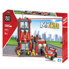Klocki Blocki MyFire Straż Pożarna Remiza 300el