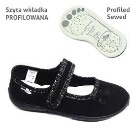 RenBut Buty Sportowe Czarne Balet 33-415LP-0066-34