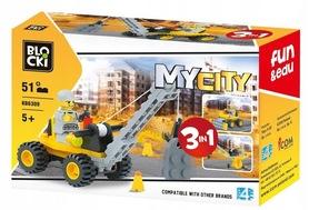 KLOCKI BLOCKI MyCity Dźwig 51el. 3w1 KB6309