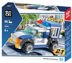 KLOCKI BLOCKI MYPOLICE 2w1 WIĘŹNIARKA 86el.