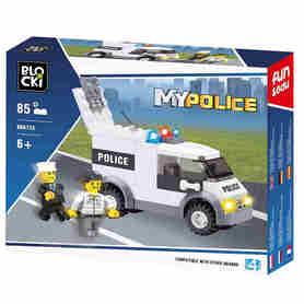 Klocki Blocki Radiowóz z dwoma policjantami