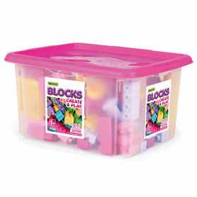 Wader 41280 Klocki Blocks 132 elementy w Pojemniku Różowe usuń