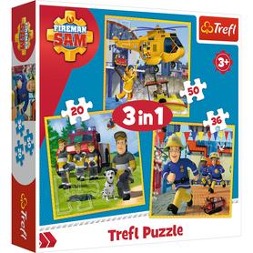 Trefl 34844 Puzzle 3w1 Strażak Sam