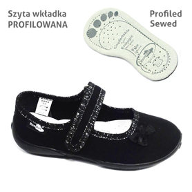 RenBut Buty Sportowe Czarne Balet 33-415LP-0066-29
