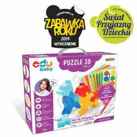 Wader 42160 Edu Puzzle Zoo 3D Pets