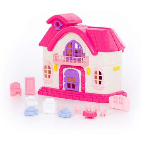 Różowy domek dla lalkek