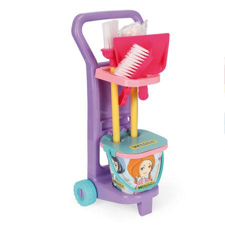 Różowy wózek do sprzątania Gosposi