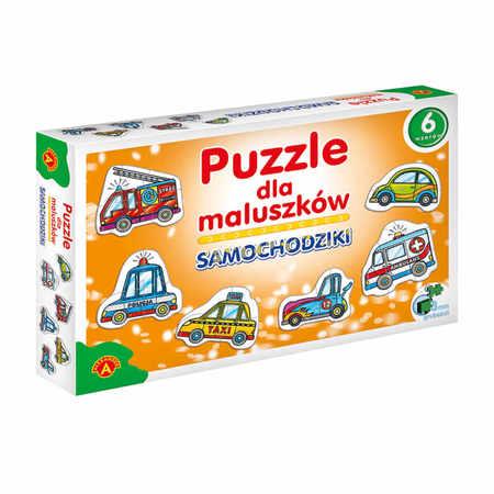 Alexander Puzzle dla Dzieci Samochodziki 6 Wzorów (1)