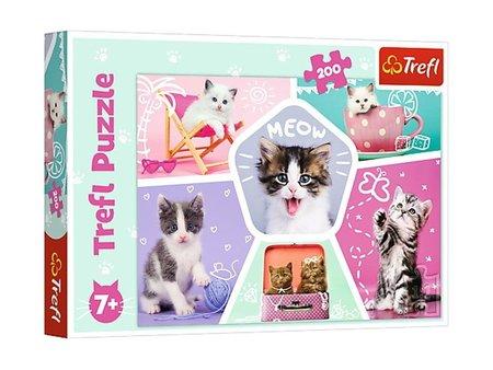 Trefl 13247 Puzzle 200 Koty, Kocie Figle (1)