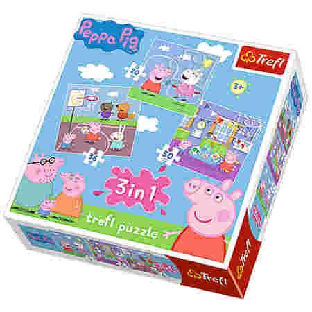 Opakowanie Pudełko Puzzli Trefl z Świnką Peppa Pig