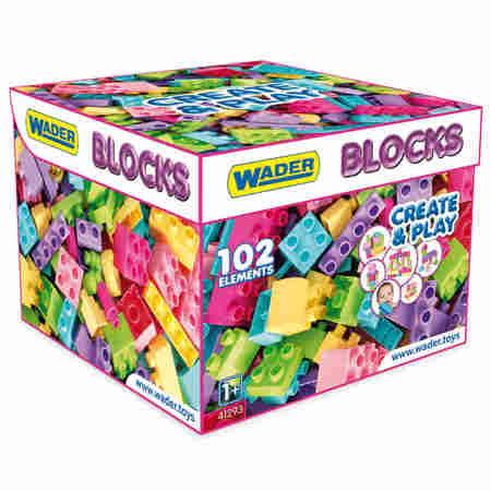 Wader Klocki Blocks 102el. w Kartonie