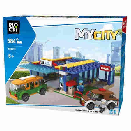 Klocki Blocki MyCity 584el Myjnia Samochodowa Duży Zestaw KB0218