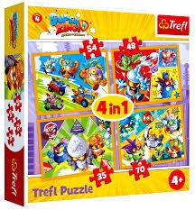 Trefl 34343 Puzzle 4w1 Super Zings Bohaterowie (1)
