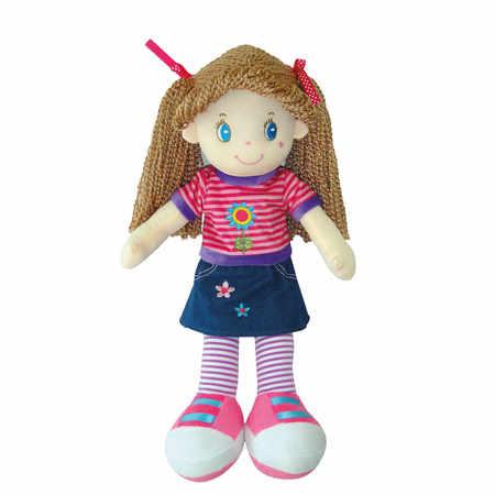 Lalka szmacianka dla dziewczynki z warkoczykami