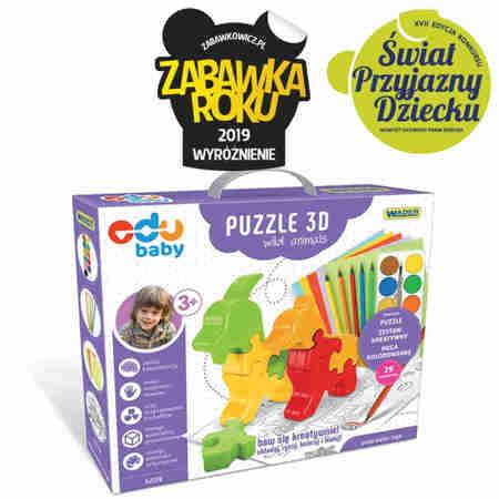 Wader 42170 Edukacyjne  Puzzle Zoo 3D Wild Animals