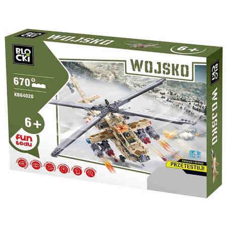 Klocki Blocki Wojsko Śmigłowiec Helikopter 670 el.