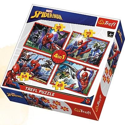 Trefl 34293 Puzzle 4w1 Spider-Man (1)