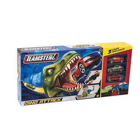 Wyrzutnia Tor Samochodowy Atak Dinozaura +3 Auta (1)