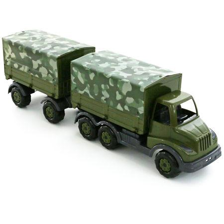 Wojskowy samochód z przyczepą Zabawka