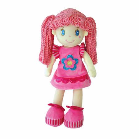 Lalka szmacianka różowa