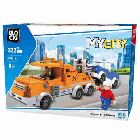 Klocki Blocki MyCity 323el Pomoc Drogowa Laweta Pudełko