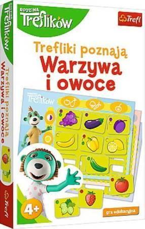 Trefl 01840 Gra Trefliki Poznają Warzywa i Owoce (1)