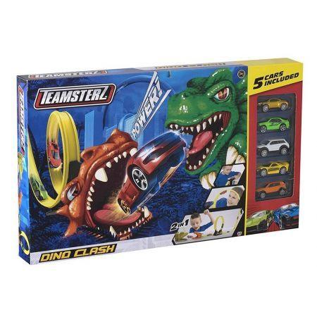 Wyrzutnia Tor Samochodowy Atak Dinozaura + 5 Autek (1)