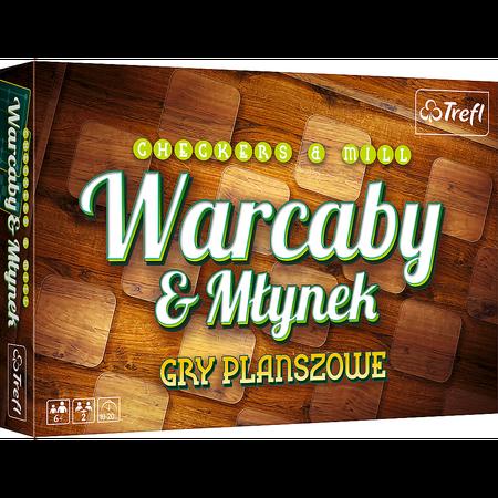 Trefl 01681 Gra Warcaby / Młynek Delux (1)