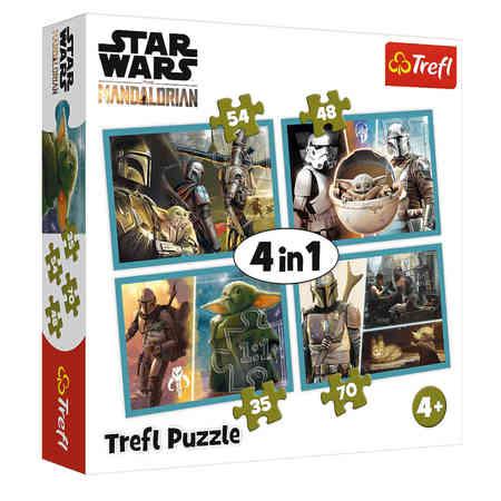 Trefl 34377 Puzzle 4w1 Star Wars Mandalorian (1)