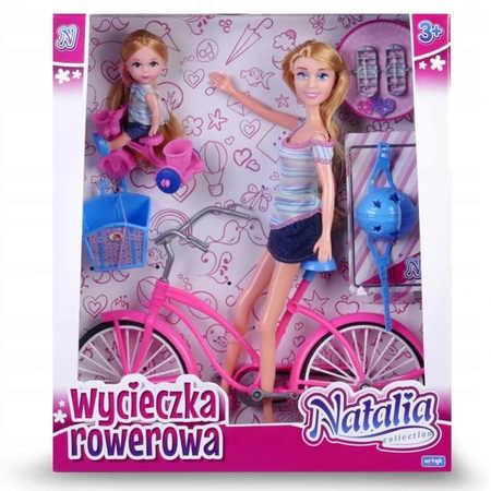 Natalia Lalka na Rowerze  z Córką