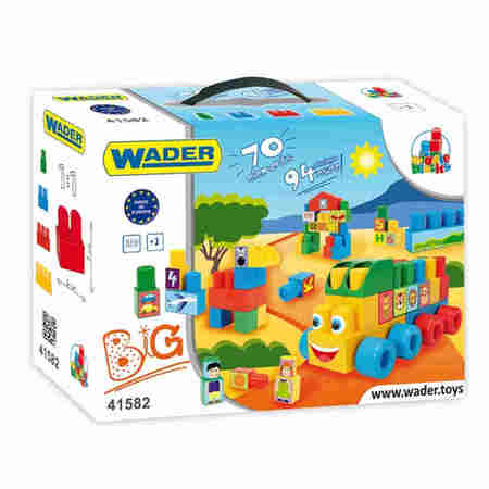 Wader 41582 Klocki Middle Block BIG 70 elementów
